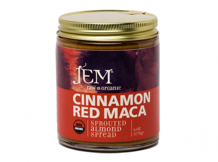 Organic Cinnamon Red Maca Almond Butter by Jem Raw Chocolate