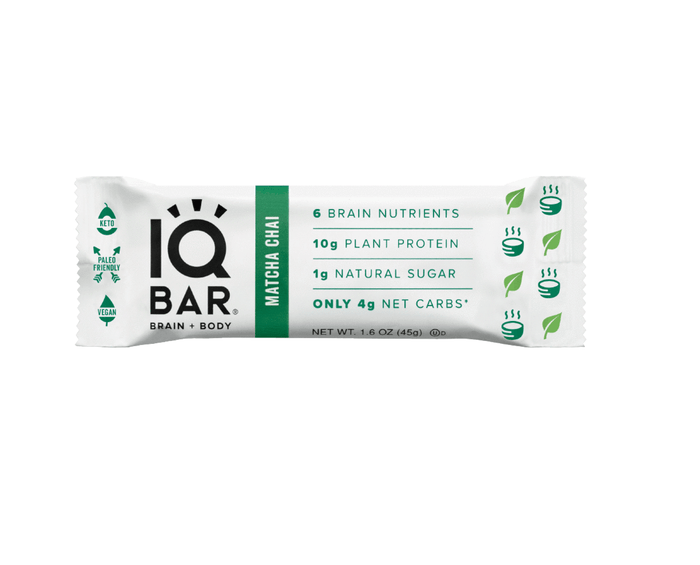 Matcha Chai Hazelnut Bar by IQ Bar
