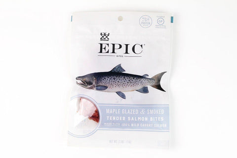 Maple Glazed and Smoked Tender Salmon Bites by EPIC