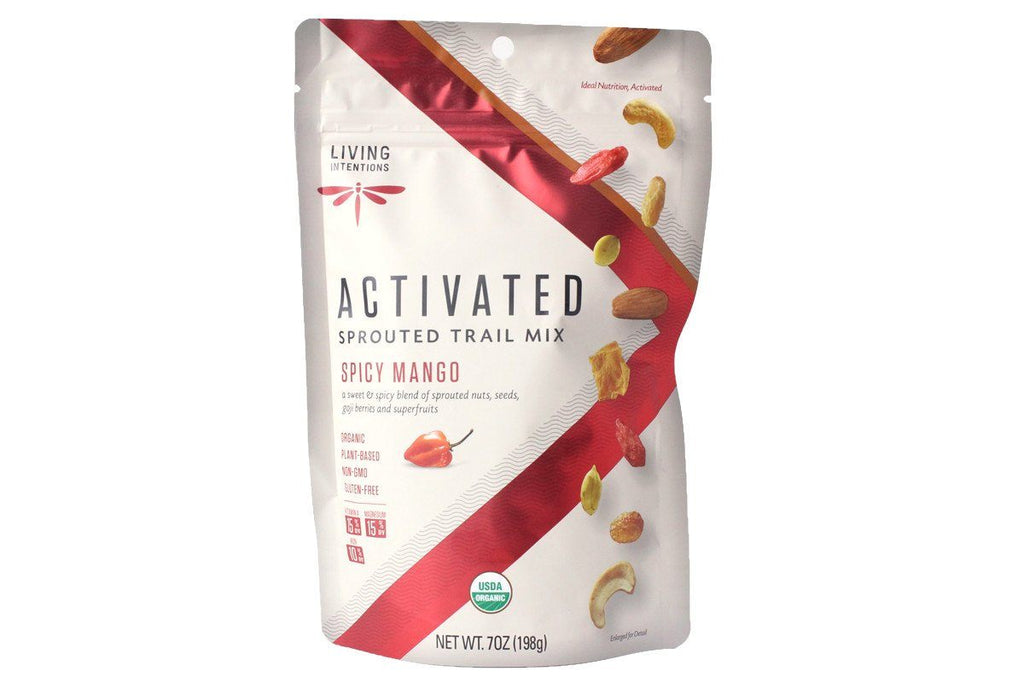 Spicy Mango Activated Sprouted Trail Mix by Living Intentions