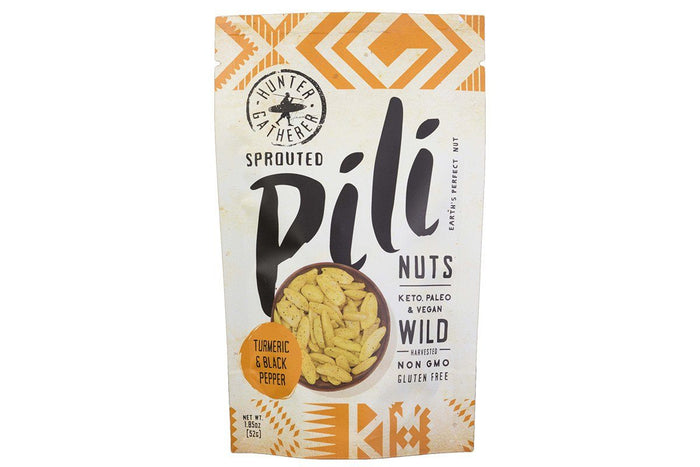Turmeric & Black Pepper Pili Nuts by Hunter Gatherer Foods - 1.85 oz