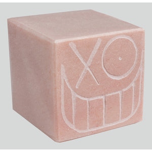 Mr. A Pink Marble Cube 14 cm 2