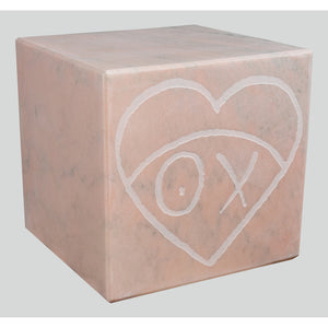 Mr. A Pink Marble Cube 35 cm 2
