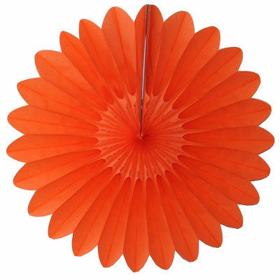 Orange Tissue Paper Fan 45cm