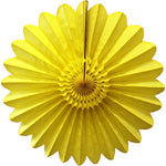 Yellow Tissue Paper Fan 45cm