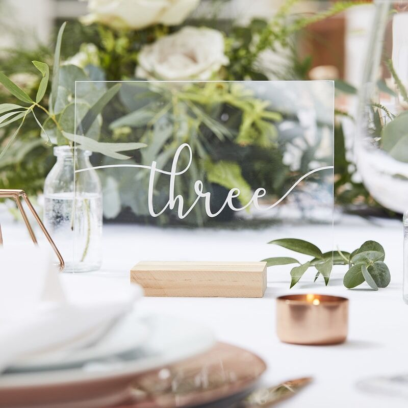 Acrylic & Wood Table Numbers (1-12)