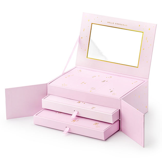 Pink Advent Calendar Jewellery Box