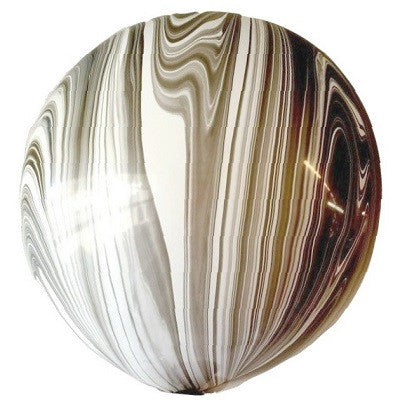 Black & White Marble 76cm Balloon
