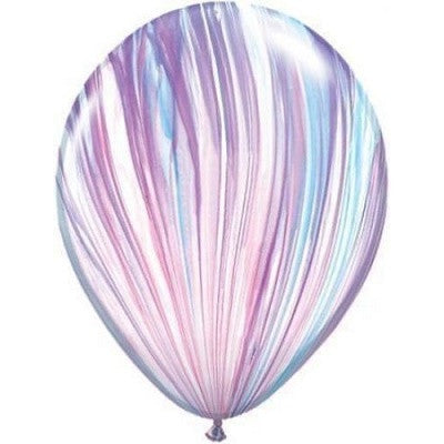 Rainbow Marble 28cm Balloons (5 pack)