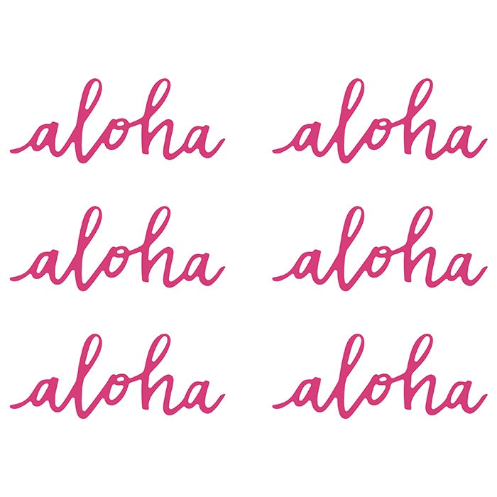 Fuchsia Aloha Place Cards (6 pack)