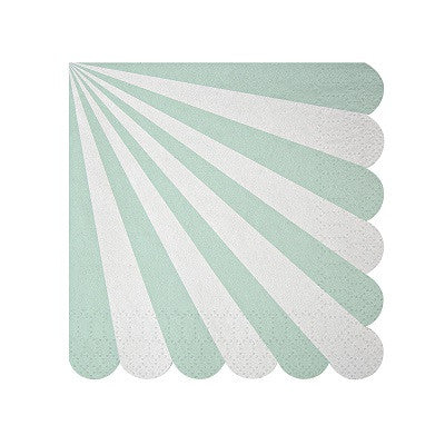 Toot Sweet Mint Striped Napkins (20 pack)