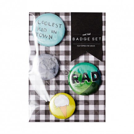Cool Kid Badge Set (4 pack)