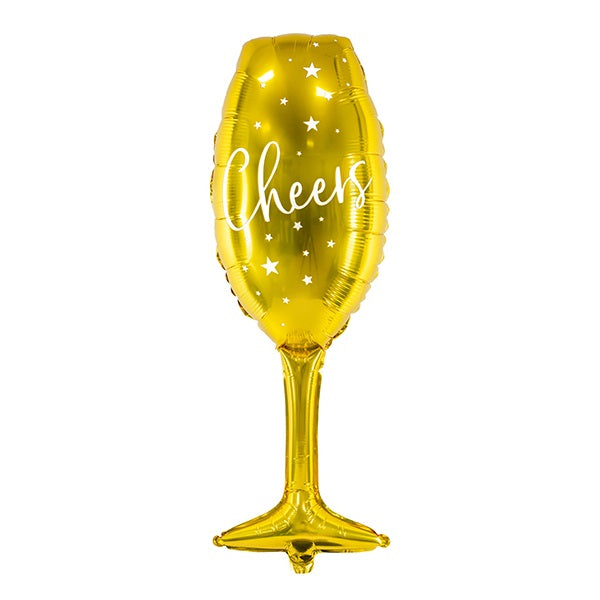 Gold Champagne Glass Balloon