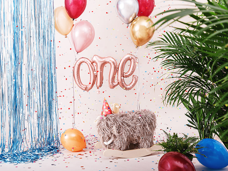 Rose Gold 'ONE' Script Balloon