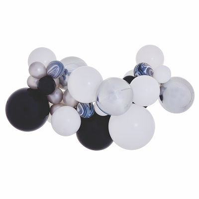 Black & White Balloon Garland