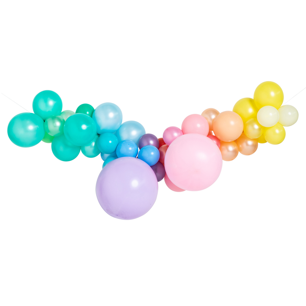 Pastel Rainbow Balloon Garland