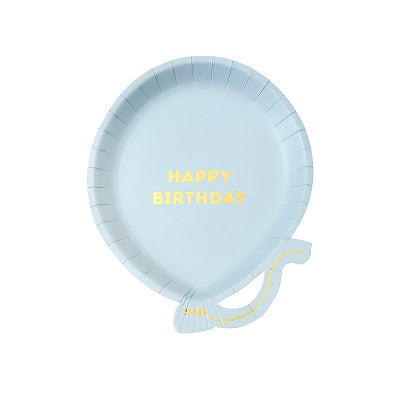 Blue Balloon Plates (12 pack)