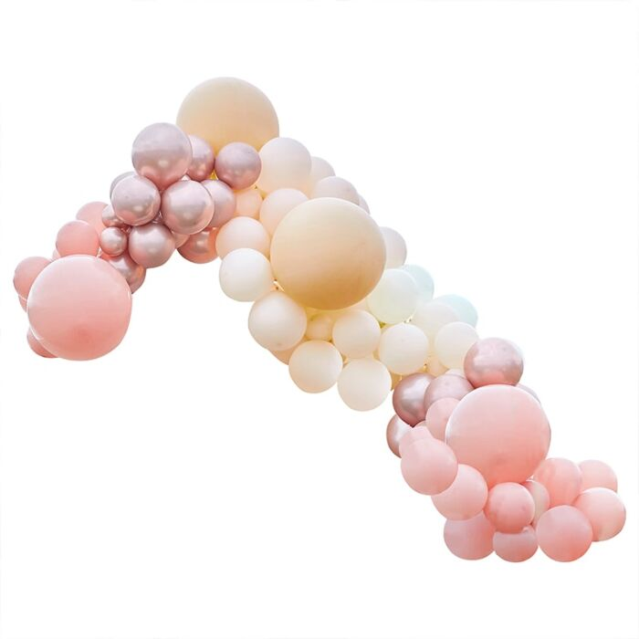 Luxe Peach & Rose Gold Balloon Garland Kit