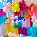 Rainbow Balloon Garland & Streamer Backdrop Kit