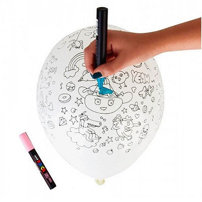 Party Colouring Balloons (5 pack)