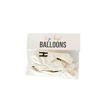 White 'HOORAY' Balloons (6 pack)