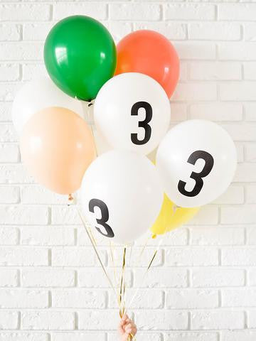 White 30cm Number Balloon (7, 8, 9, 0 left!)