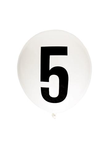 White 30cm Number Balloon (0-9)