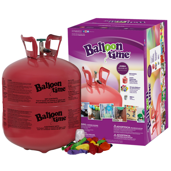 Balloon Jumbo Helium Tank & Balloon Kit (PICKUP ONLY)
