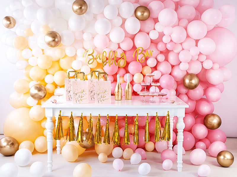 Gold Bubbly Bar Banner