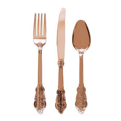 Rose Gold Fancy Cutlery (10 pack)