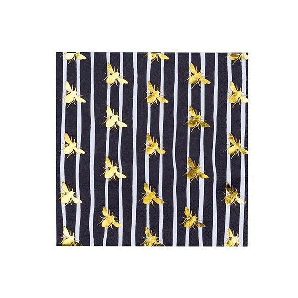 Black Bee Cocktail Napkins (20 pack)