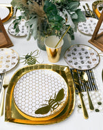 Gold Bee Plates (8 pack)