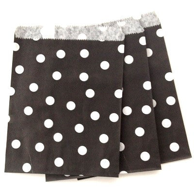 Black Dot Party Bags (10 pack)