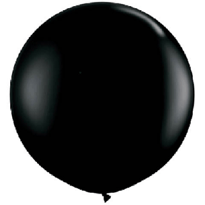 Black Giant 90cm Round Balloon