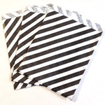 Black Striped Party Bags (10 pack)