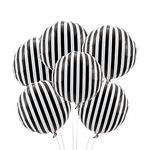 Black & White Stripe Balloon