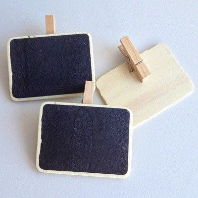 Mini Blackboard Clip Tags (5 pack)