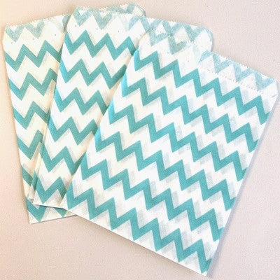 Blue Chevron Party Bags (10 pack)