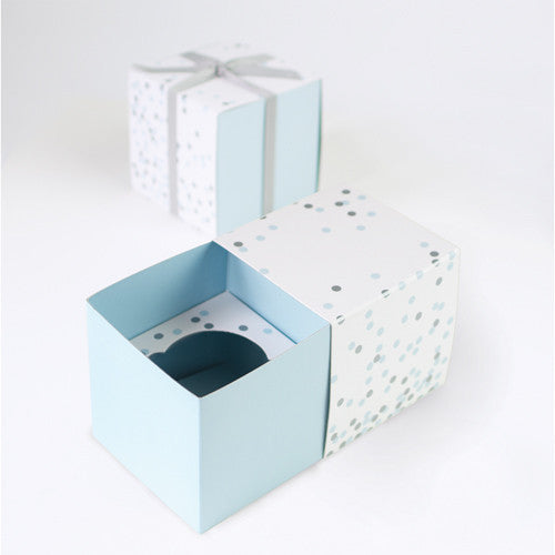 Blue Confetti Cupcake Gift Boxes (6 pack)