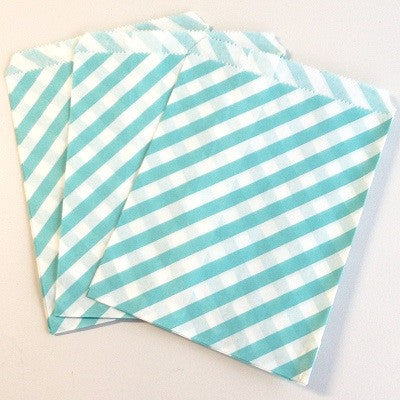 Blue Striped Party Bags (10 pack)
