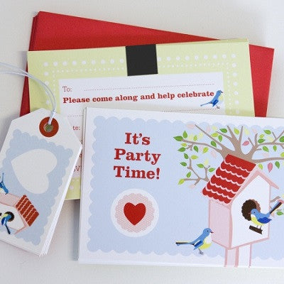 Bluebird Party Invitations & Tags (10 pack)