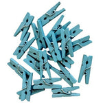 Blue Mini Wooden Pegs (20 pack)