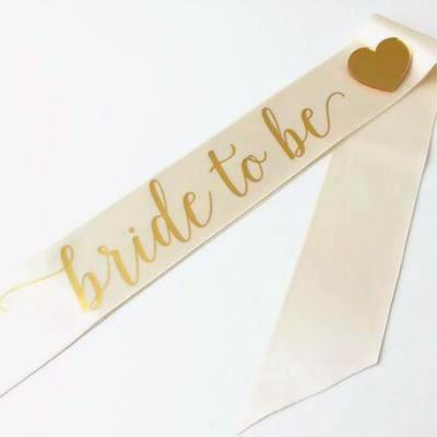Ivory Bride To Be Sash