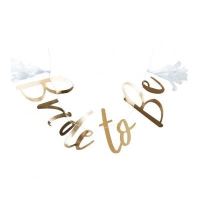 Gold Bride To Be Bunting