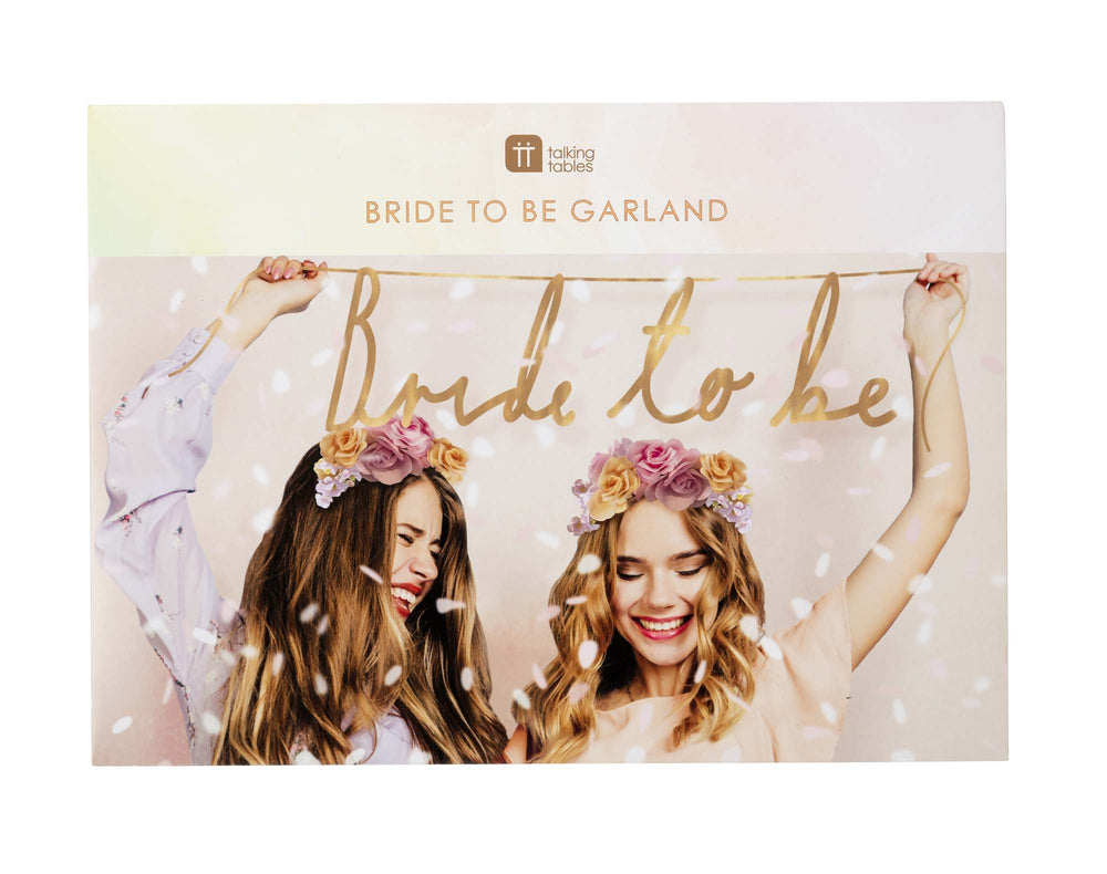 Rose Gold Bride To Be Garland