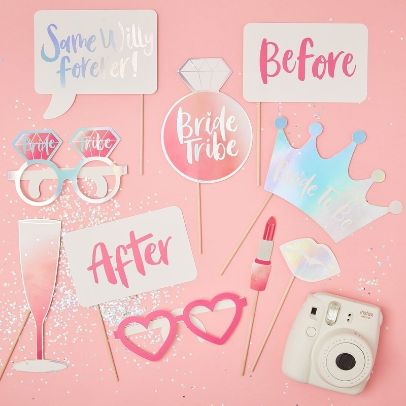Bride Tribe Photo Booth Props (10 pack)