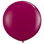 Burgundy Giant 90cm Round Balloon