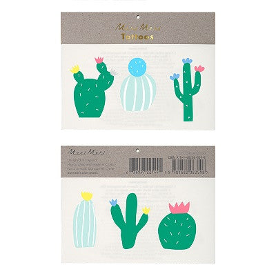 Cactus Tattoos (2 sheets)