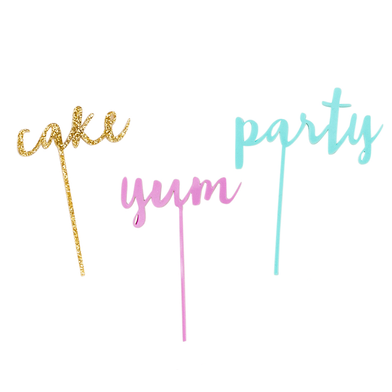 Party Cake Topper Set (3 pack)