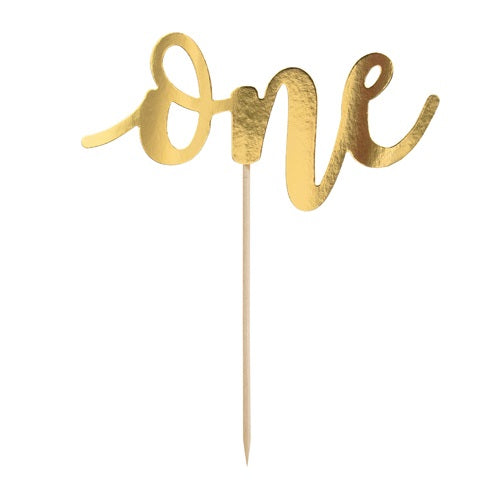 Gold One Cake Topper
